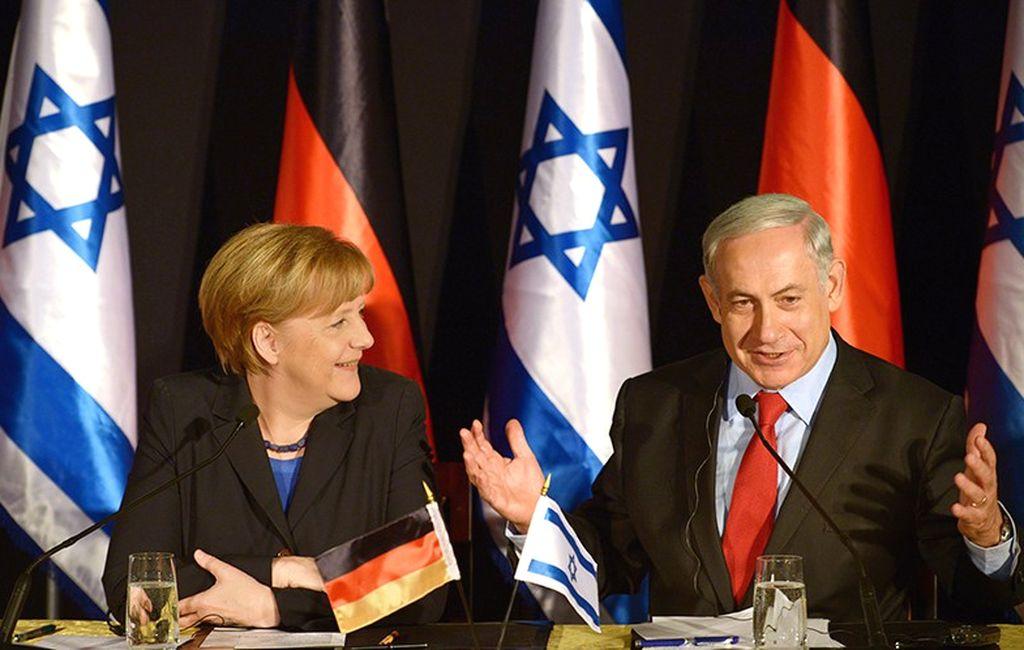 Angela Merkel y Benjamín Netanyahu. Crédito: Internet
