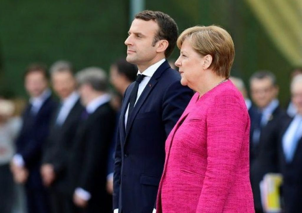 Emmanuel Macron y Ángela Merkel. Crédito: Internet