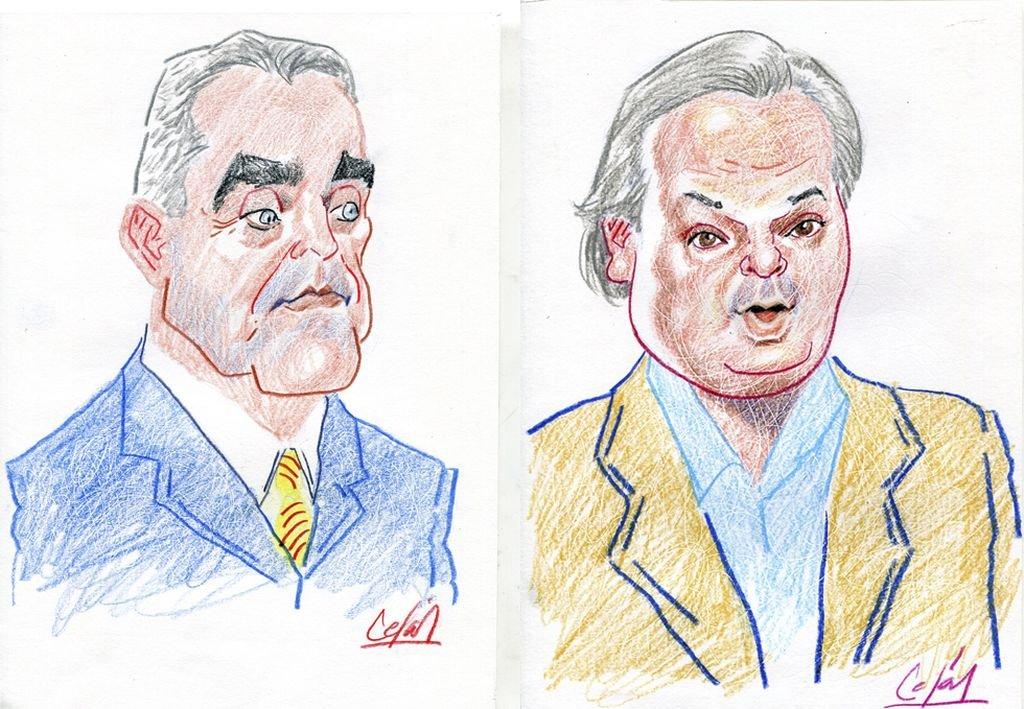 Armando Traferri y Pablo Farías protagonistas de un debate sobre números, que fue sobre todo político. Crédito: Lucas Cejas