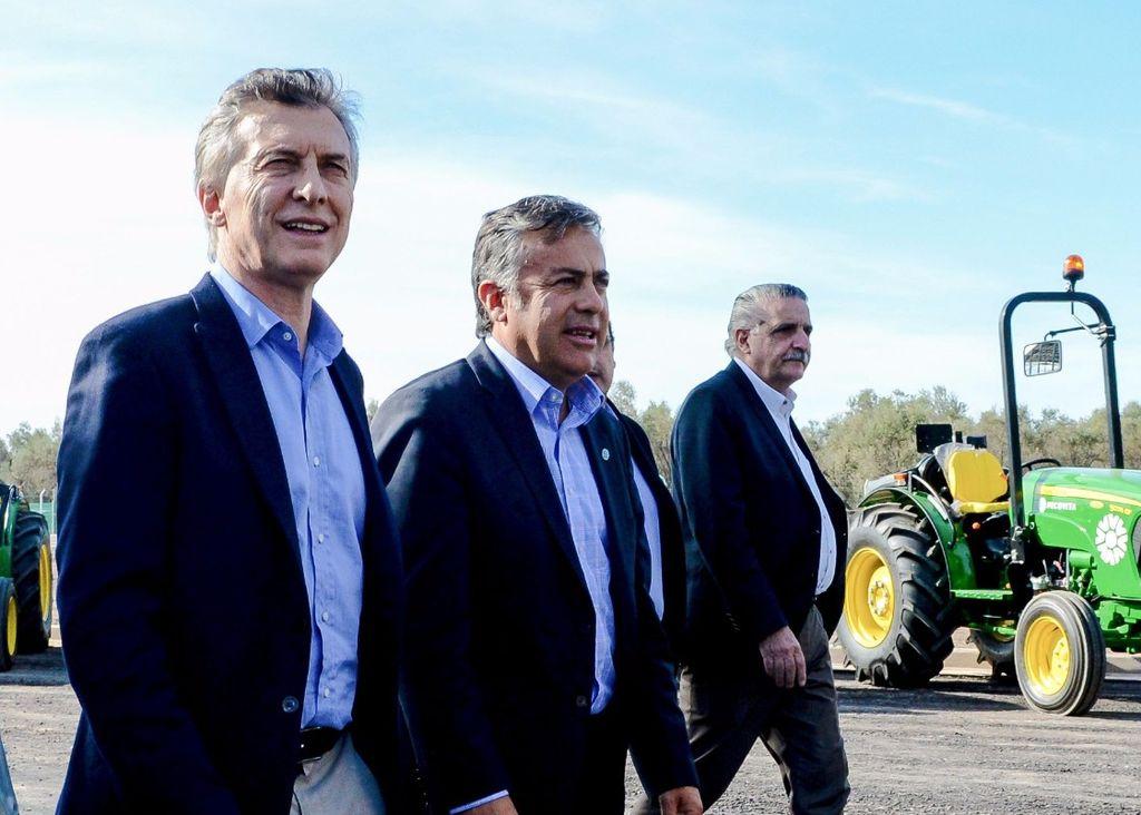 Macri y Cornejo en Mendoza en su pasada visita. Crédito: Presidencia de la Nación