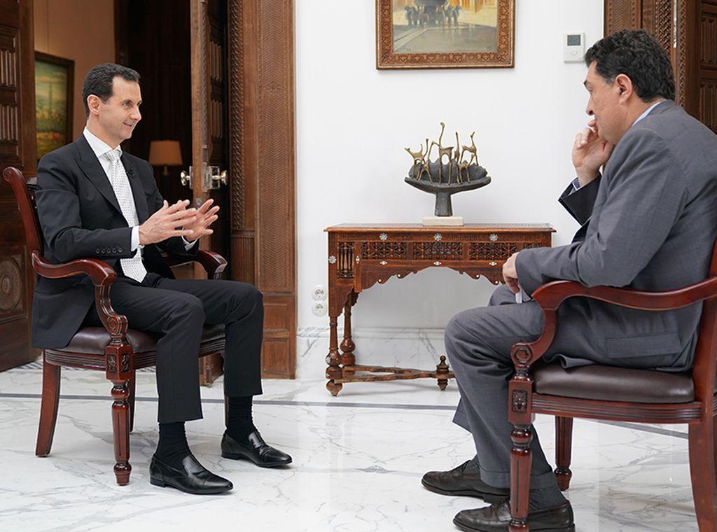 Entrevista al presidente sirio Al Assad. <strong>Foto:</strong> Kathimerini.gr