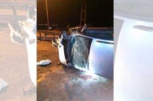 Automovilista lesionado tras vuelco en la RN 168