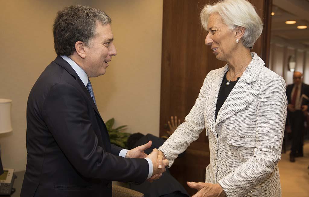 """""""Hasta tanto logremos cerrar el acuerdo con el FMI, nos hemos comprometido a no hablar de cifras o modalidades"""", dijo Dujovne tras su reunión con Christine Lagarde. Crédito: Ministerio de Hacienda"""