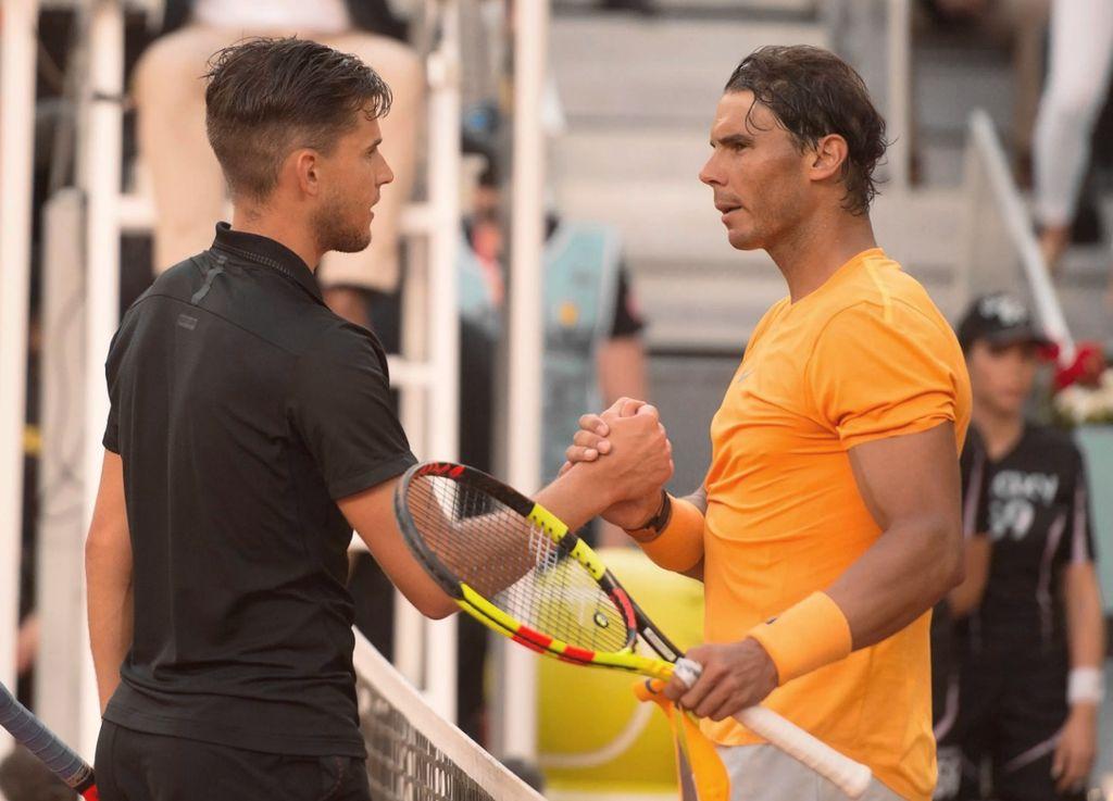 Este viernes, Dominic Thiem venció a Rafael Nadal por 7-5 y 6-3 en los cuartos de final de Madrid. Crédito: Internet