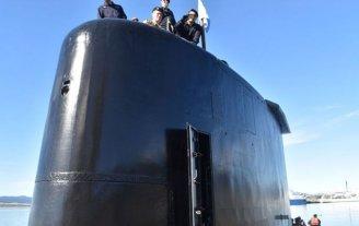 Este jueves se cumple un año de la desaparición del ARA San Juan - Una de las últimas fotos del submarino y sus tripulantes. -