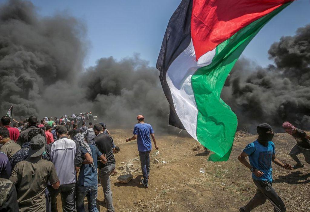 En total hubo 109 palestinos asesinados — Protestas en Gaza