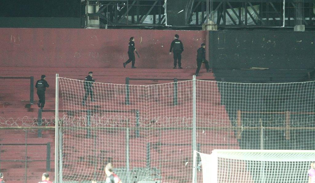 Debido al incidente durante al partido con Vélez un sector del estadio fue clausurado. Crédito: Pablo Aguirre