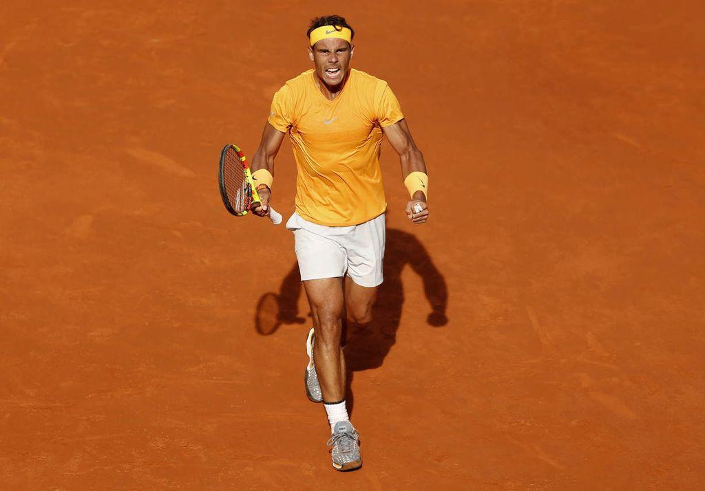 Rafael Nadal, a pesar de la derrota en Madrid, volvió a la pista con más fuerza. Crédito: Internet