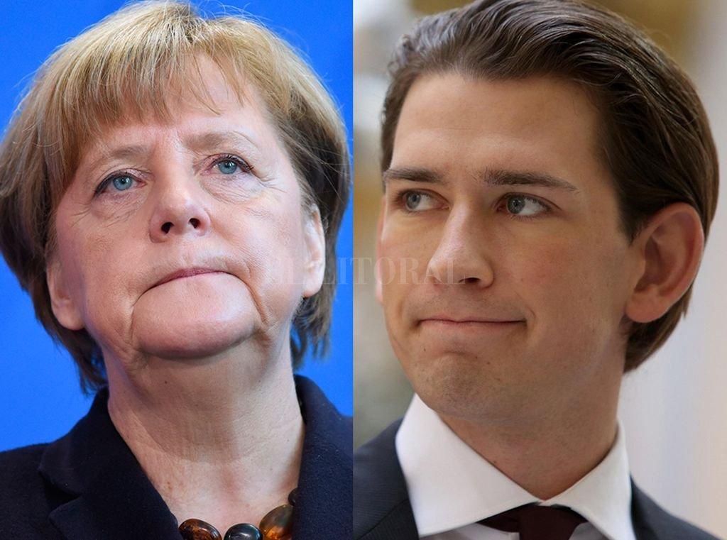 La líder alemana Angela Merkel y el líder austríaco, Sebastian Kurz. Crédito: Internet-Archivo