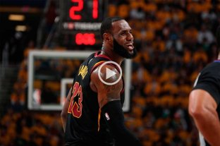 Con un implacable LeBron, Cleveland igualó la serie ante Boston