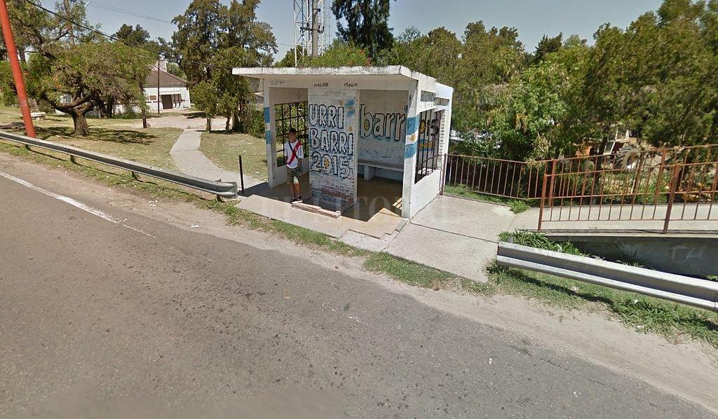 Garita ubicada sobre la ruta 168, a metros del acceso a la Guardia. <strong>Foto:</strong> Captura digital Google Maps Street View