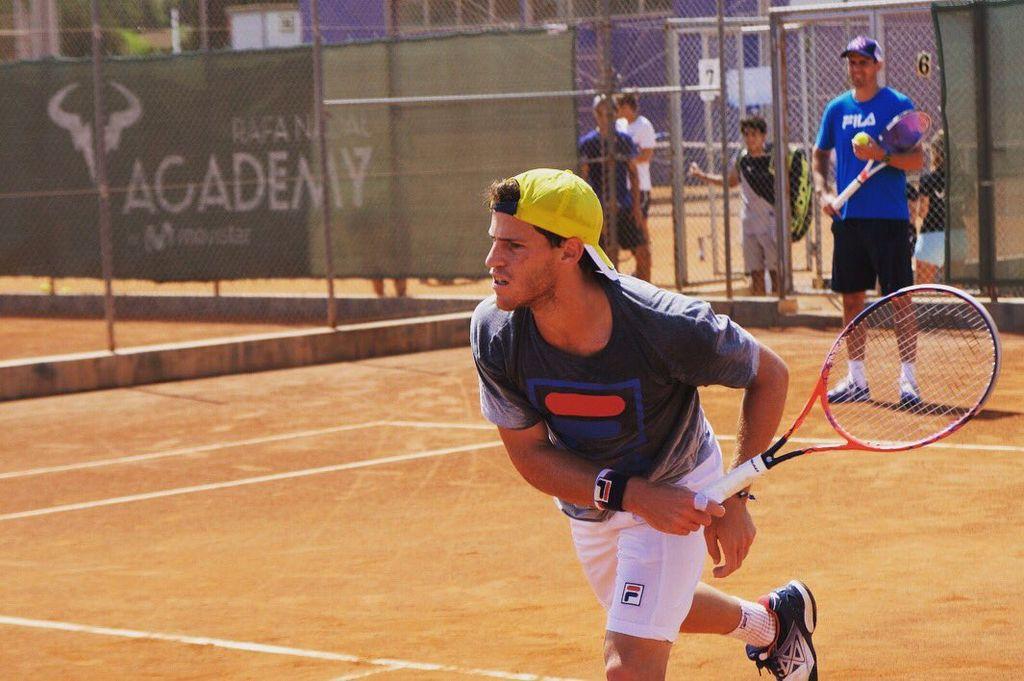 Diego Schwartzman en la academia de Rafael Nadal. Crédito: Twitter