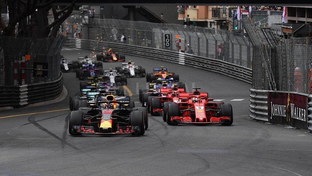 Largada del GGPP de Monaco de F1. Así clasificaron, así largaron y así terminaron la carrera los primeros seis autos.  Crédito: formula1.com