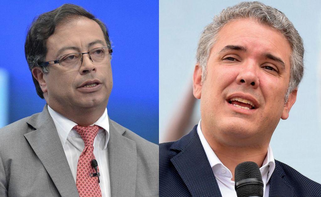 El izquierdista Gustavo Petro y el derechista Iván Duque. Crédito: CNN en Español.