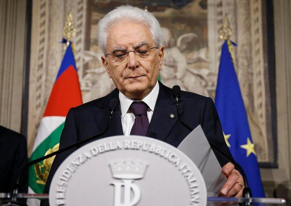 El presidente italiano Sergio Mattarella. <strong>Foto:</strong> Internet