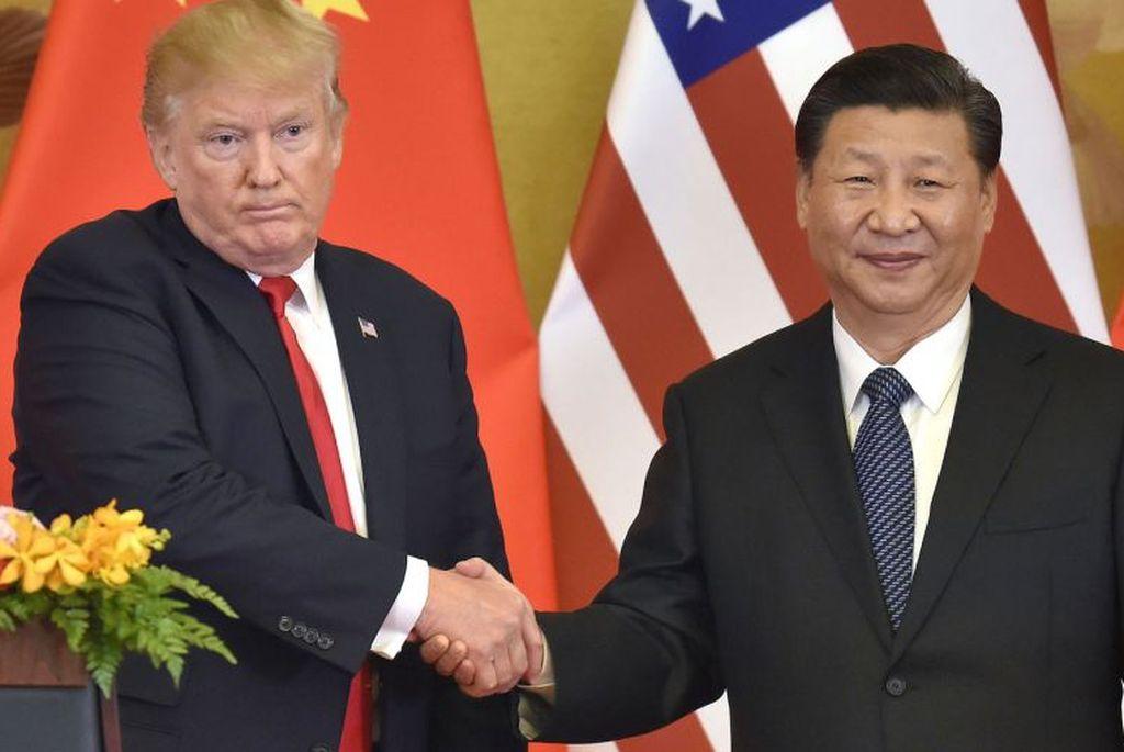 Donald Trump junto a Xi Jinping. Crédito: Internet