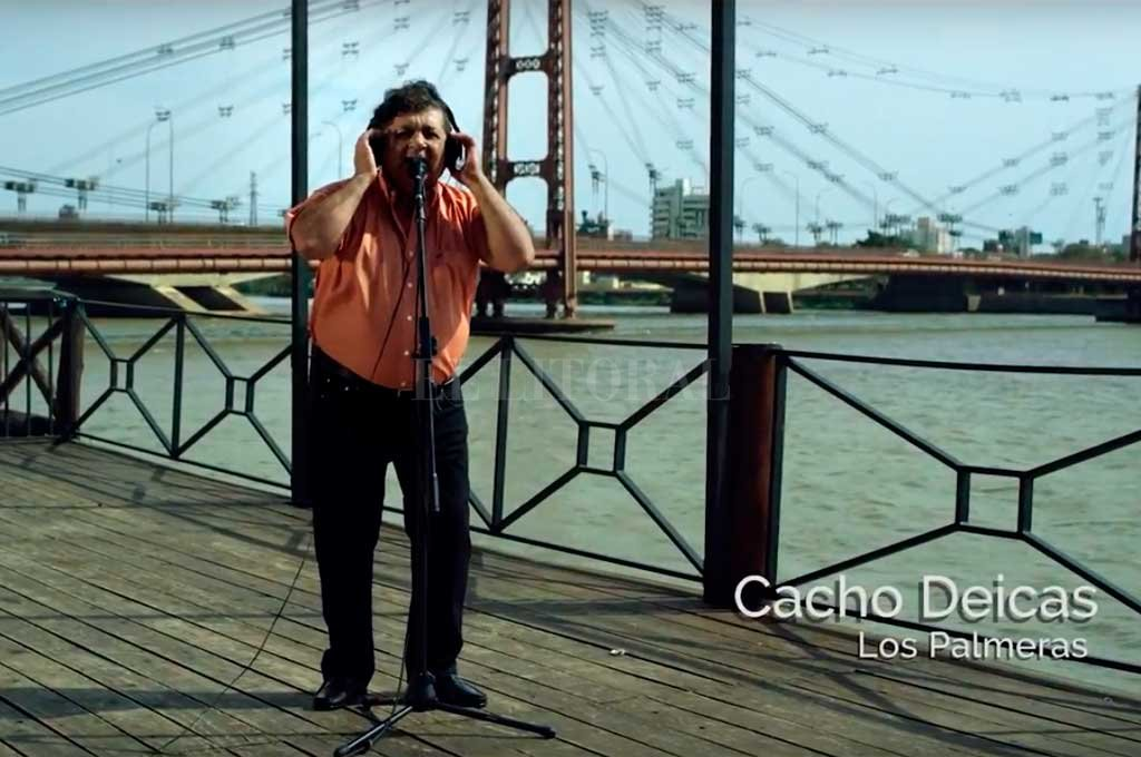 Por la ciudad de Santa Fe, participaron tres voces de la cumbia como