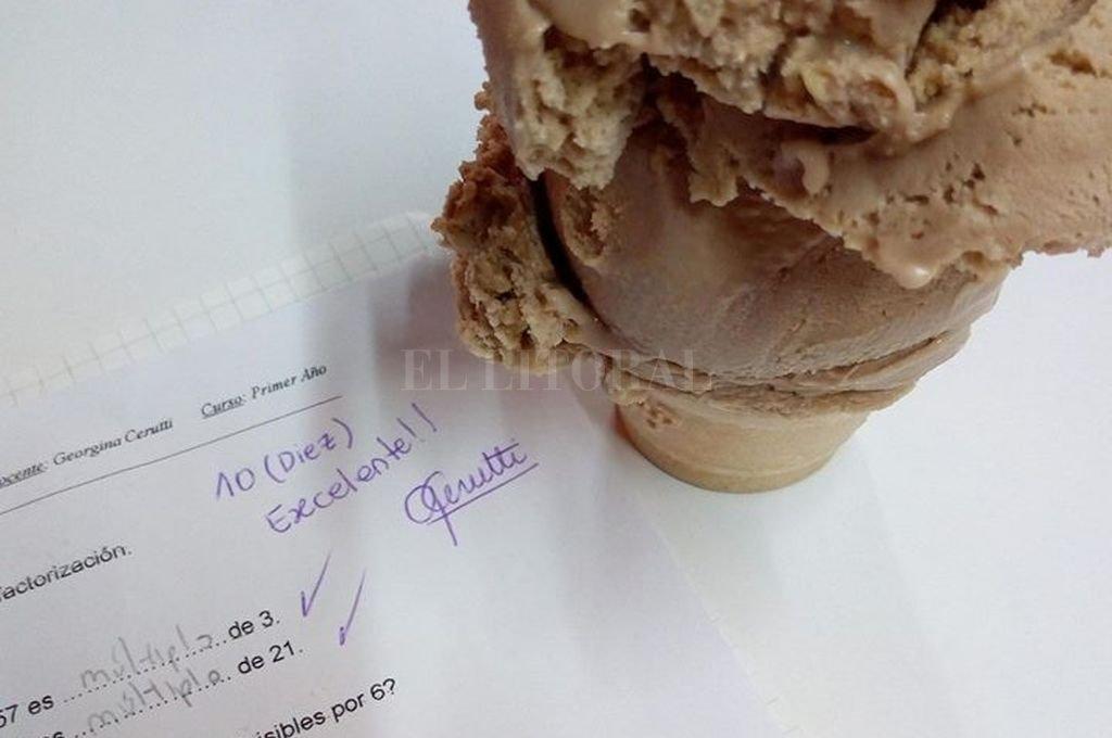 Un mimo para los estudiosos: en Elortondo, regalan helados a los chicos con buenas notas