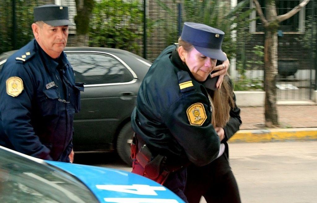 Así llegaba Nahir a los Tribunales. Crédito: José Almeida (Clarín).