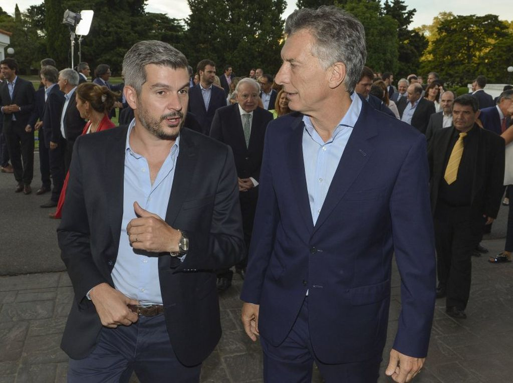 El jefe de Gabinete, Marcos Peña, junto al presidente de la Nación, Mauricio Macri. <strong>Foto:</strong> Internet