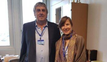 Reunión clave internacional entre Sergio Romero y Karen Curtis, referente de la OIT