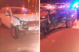 Choque en la Ruta 1 dejó tres lesionados