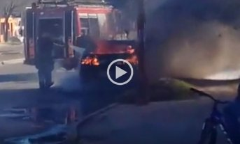 Video: Auto quemado en Liceo Norte