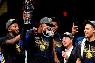 Golden State le ganó a Cleveland y es nuevamente campeón de la NBA