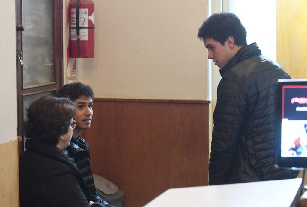 Segunda semana de audiencias en el juicio a Nahir Galarza por homicidio de Fernando Pastorizzo. Los testigos Rafael Distefano y Joaquín Osorio.  <strong>Foto:</strong> (José Almeida) Clarín