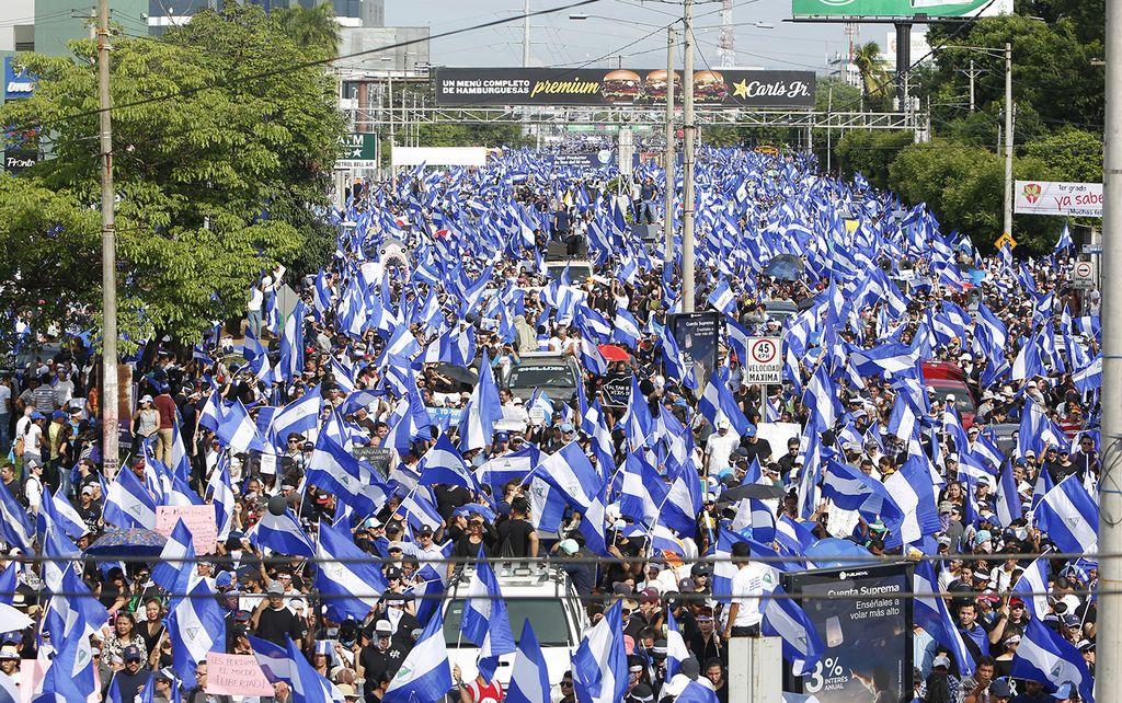 Protestas en las calles de Nicaragua este jueves. <strong>Foto:</strong> Internet