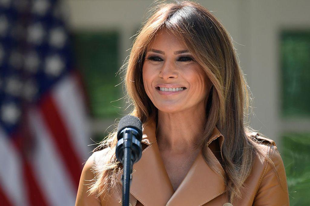 La primera dama de Estados Unidos, Melania Trump. Crédito: Internet