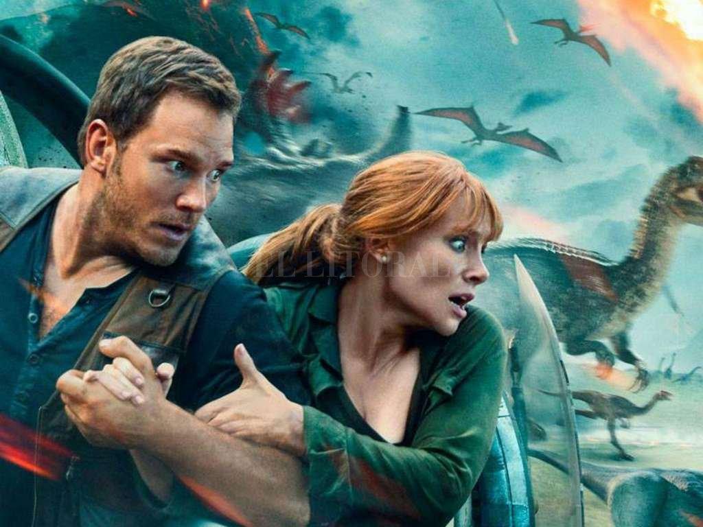 Chris Pratt y Bryce Dallas Howard repiten sus roles como Owen y Claire, en una nueva aventura en la isla Nublar. <strong>Foto:</strong> Gentileza Universal Pictures