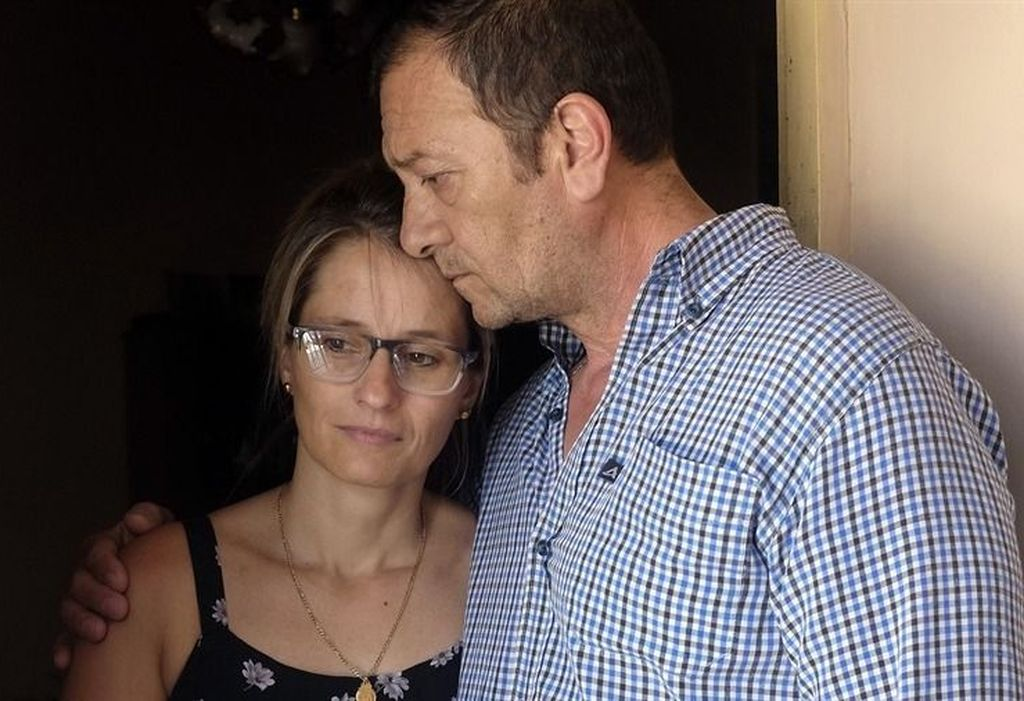 Marcelo Galarza y Yamina Kroh, padres de la imputada. Crédito: Internet