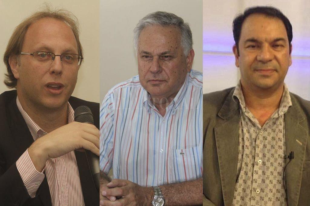 SAGLIONE, PERTICARARI Y BONALUMI. Tres voces calificadas de la economía provincial brindaron su punto de vista tras el acuerdo del gobierno de Macri con el FMI. <strong>Foto:</strong> Archivo El Litoral