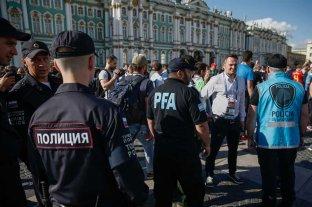 Fuerte operativo de seguridad en San Petersburgo por el partido entre Argentina y Nigeria