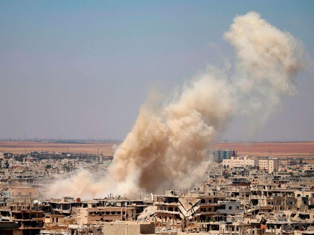 En la foto, fuerzas de Damasco toman dos pueblos en el sur de Siria. <strong>Foto:</strong> Internet