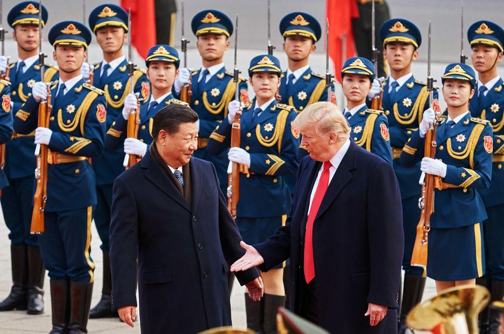 Donald Trump, presidente de Estados Unidos y Xi Jinping, presidente de China.  Crédito: Archivo El Litoral