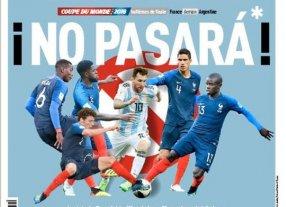 Los medios de comunicación de Francia ya viven el partido contra Argentina