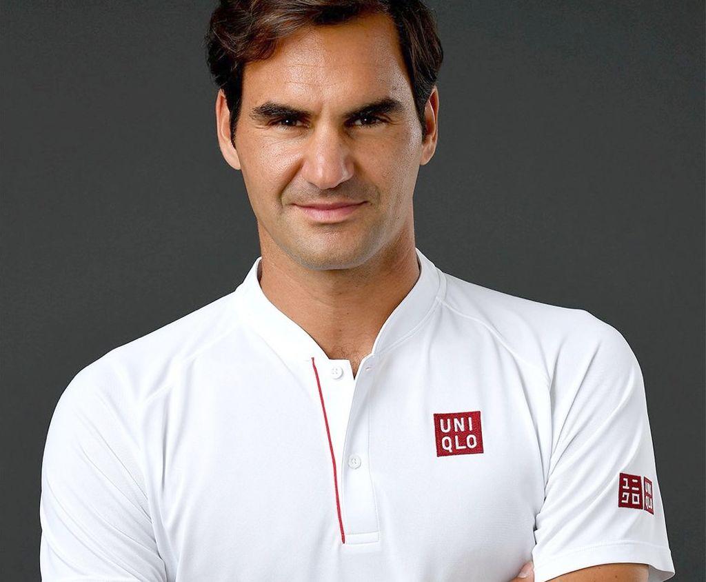 La nueva imagen de Roger Federer. Crédito: Uniqlo