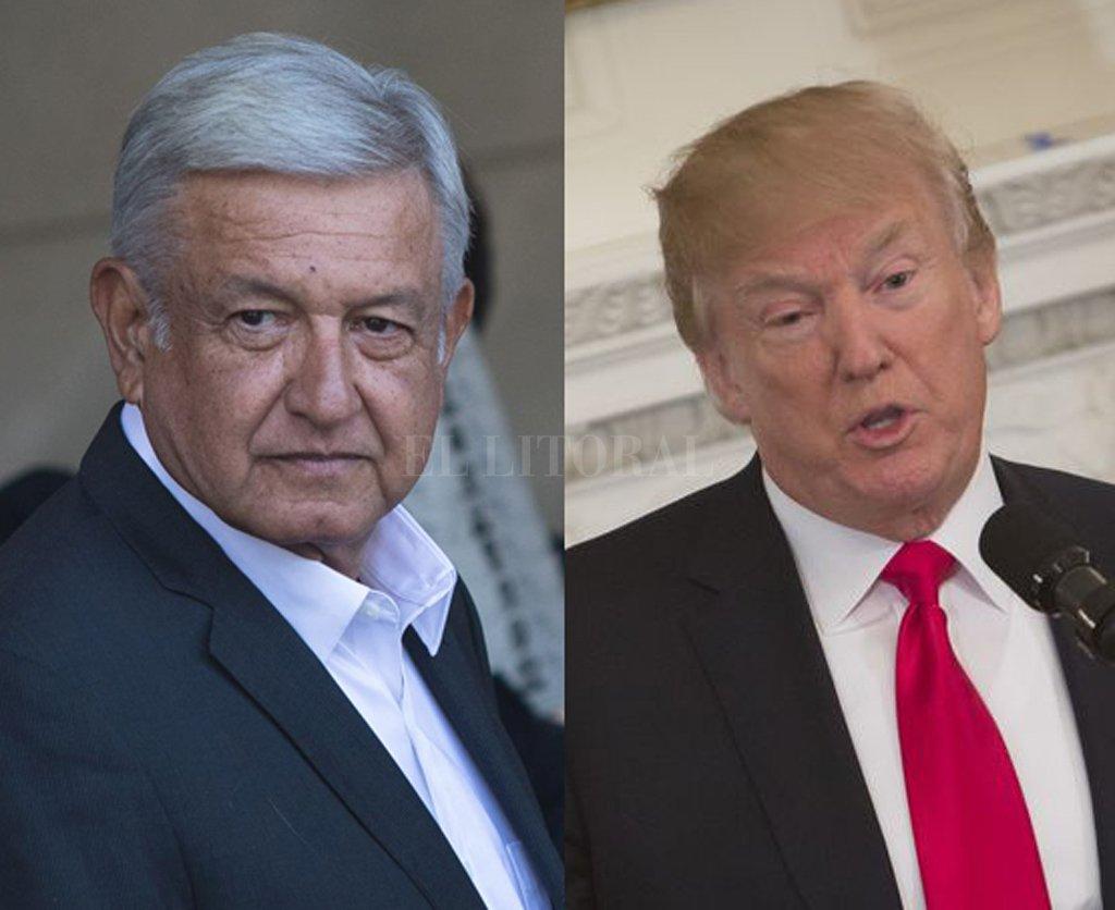 El candidato electo a presidente de México, Andrés Manuel López Obrador y Donald Trump, el presidente de Estados Unidos. <strong>Foto:</strong> Archivo El Litoral