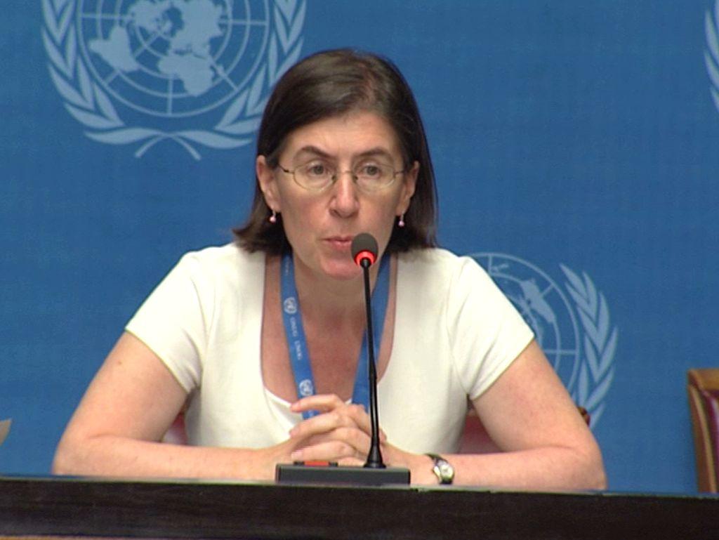 La portavoz del Alto Comisionado para los Derechos Humanos de la ONU, Liz Throssell. <strong>Foto:</strong> Internet