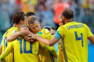Suecia superó a Suiza y se metió en cuartos de final