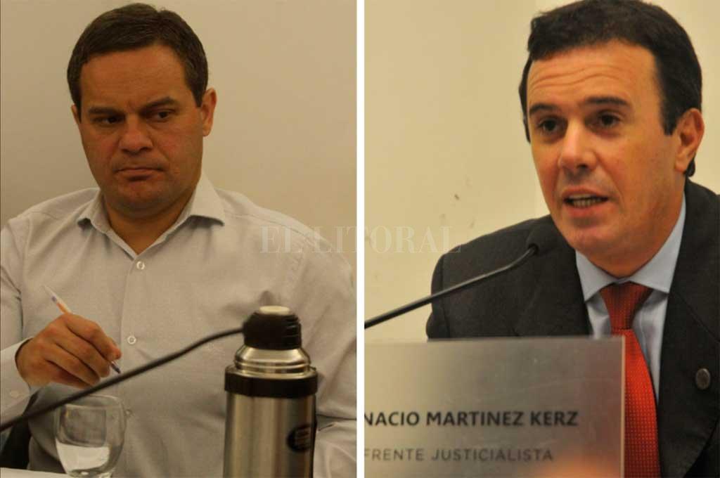 Duro encontronazo entre Martínez Kerz (PJ) y González (UCR-FPCyS) por la tasa de gas, ya derogada. <strong>Foto:</strong> Archivo El Litoral