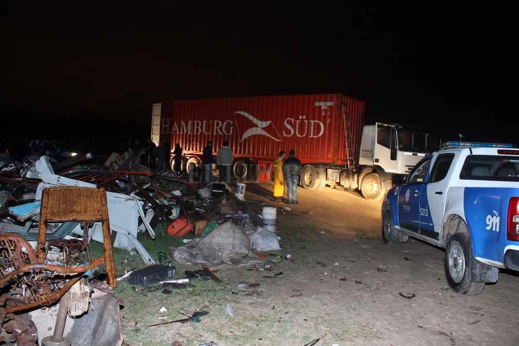 El cargamento fue hallado el 2 de noviembre de 2014 en horas de la madrugada, en un basural de Arroyo Leyes. <strong>Foto:</strong> Archivo El Litoral