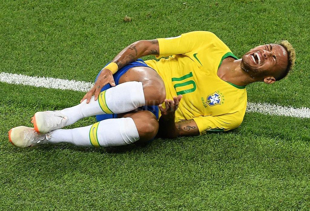 En lo que va del Mundial Neymar acumula 14 minutos tirado en el césped