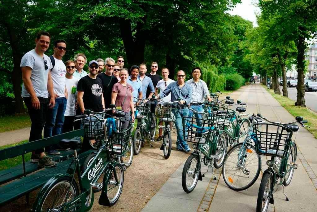 Inigualable. Es la experiencia del santafesino Azcurrain en Copenhague, junto a otros amantes de la bici de diferentes puntos del mundo. Sjur Melsas (Gentileza).