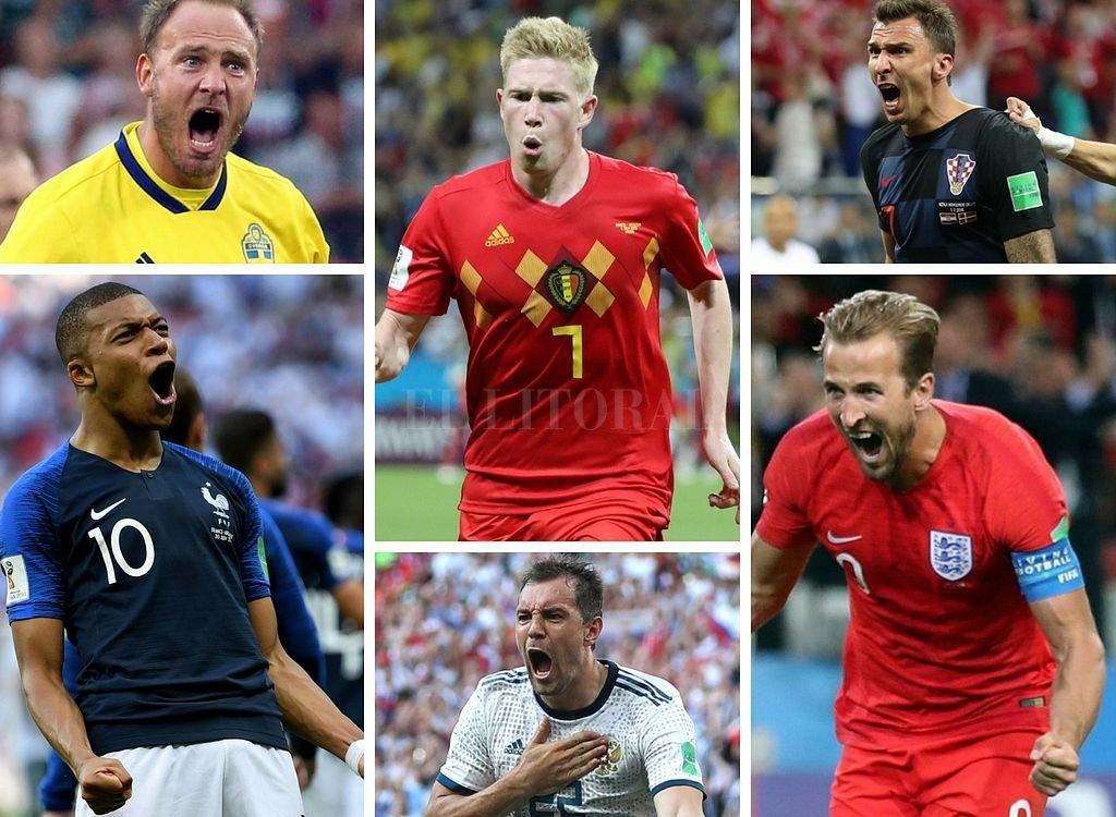 Suecia, Francia, Bélgica, Rusia, Inglaterra y Croacia son los seis equipos que siguen en carrera. Crédito: El Litoral