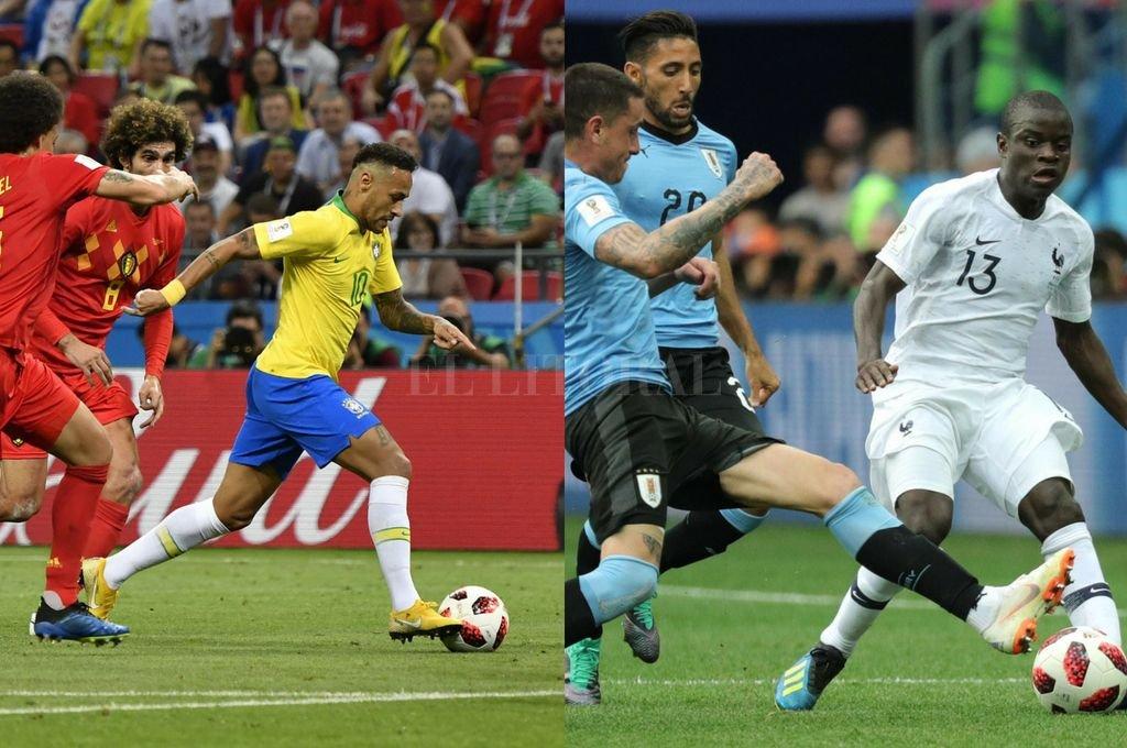 Uno con fútbol, el otro con garra. Brasil dejó el torneo mucho antes de lo previsto pero jugando muy bien e incluso mereciendo el empate. Uruguay, en tanto, se vio superado por Francia, pero con su habitual espíritu de equipo niveló fuerzas. En ambos casos, muy lejos de lo escaso que mostró Argentina. <strong>Foto:</strong> Xinhua / DPA