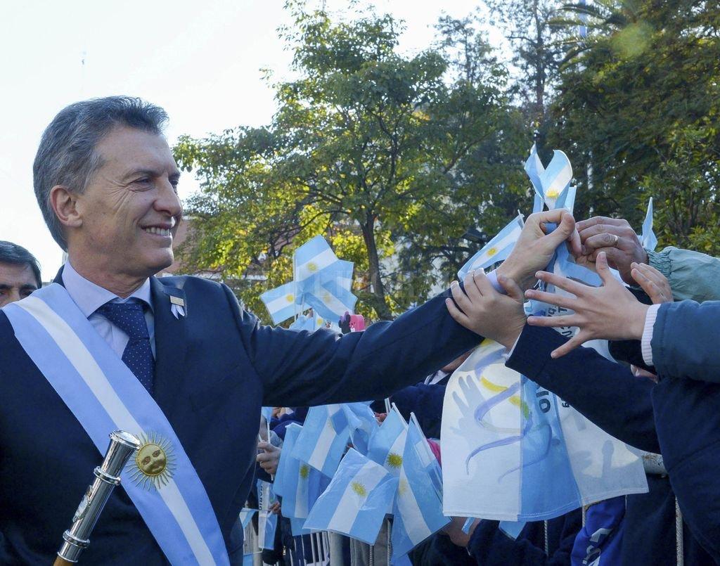 El presidente Macri en su visita a la capital tucumana en el 2016, para el 9 de julio. Crédito: Archivo