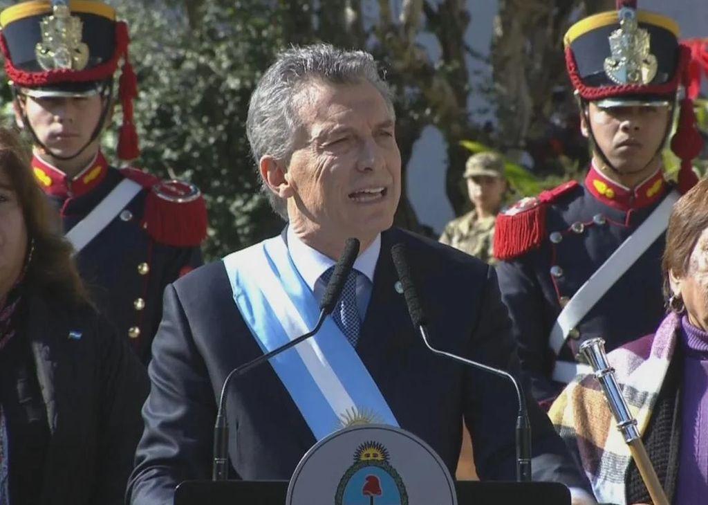 Mauricio Macri en Tucumán. 09/07/2018 Crédito: Internet